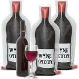 Wine Caddy Reusable Travel Wine Skin Bottle Protector