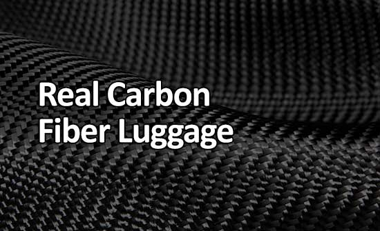 Real carbon fiber luggage
