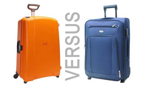 Hard side versus soft side luggage