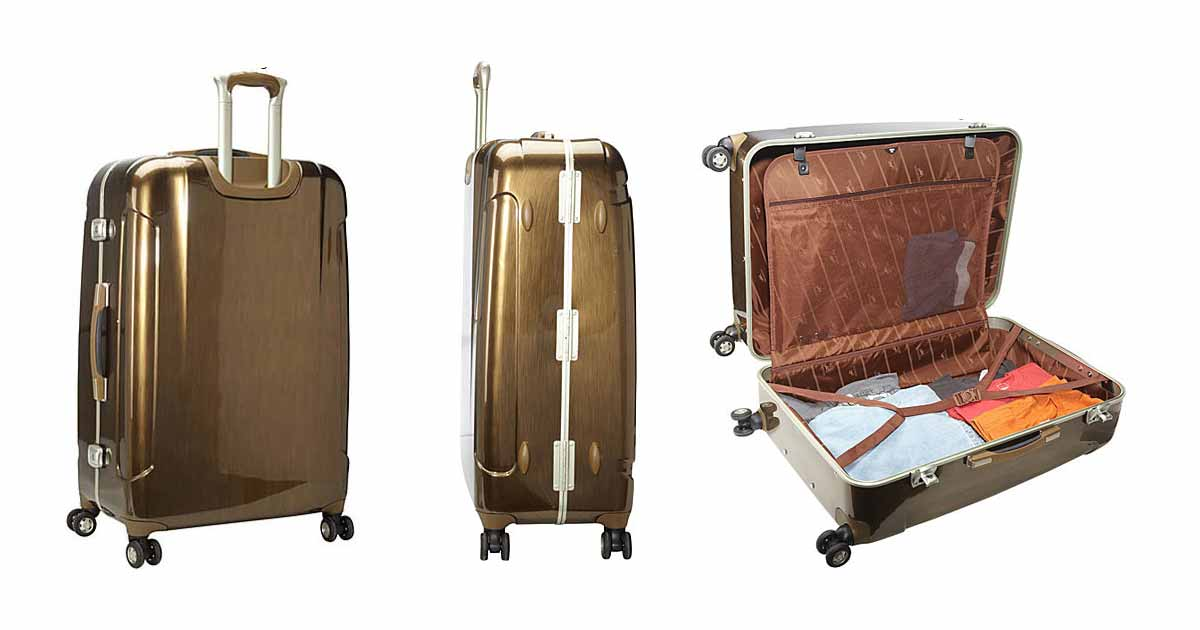 Mancini Armour Polycarbonate Spinner Suitcase