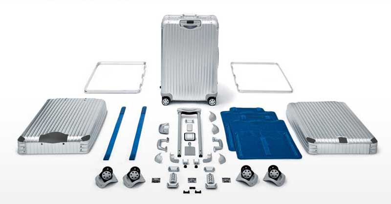 Rimowa Topas Aluminum exploded parts