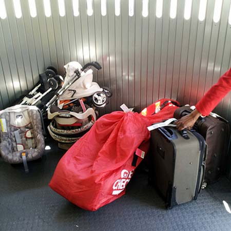 Gate check luggage